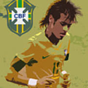 Neymar Art Deco Art Print by Lee Dos Santos