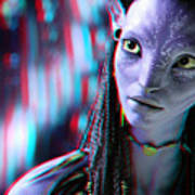 Neytiri - Use Red And Cyan 3d Glasses Art Print