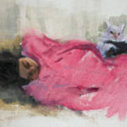 Nicole And Josie Art Print