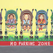 No Parking Zone Art Print