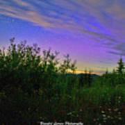 Northern Lights At Mount Pilchuck Art Print