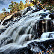 Northern Michigan Up Waterfalls Bond Falls Art Print