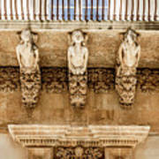 Noto, Sicily, Italy - Detail Of Baroque Balcony, 1750 Art Print