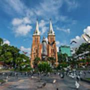 Notre-dame Cathedral Basilica Of Saigon, Officially Cathedral Basilica Of Our Lady Of The Immaculate Art Print