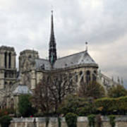 Notre Dame Cathedral In Paris, France Art Print