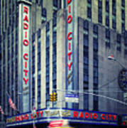 Nyc Radio City Music Hall Art Print by Nina Papiorek