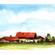 Oberendling Bavaria Art Print