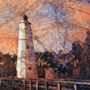 Ocracoke Island Lighthouse Art Print