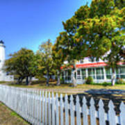 Ocracoke Lighthouse, Ocracoke Island, Nc Art Print