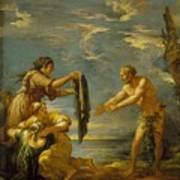 Odysseus And Nausicaa Art Print