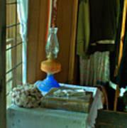Oil Lamp And Bible Art Print