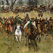 Oklahoma Land Rush, 1891 Art Print
