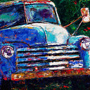 Old Chevy Truck Art Print