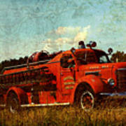 Old Fire Truck Art Print