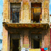 Old Havana Building Art Print
