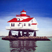 Old Plantation Flats Lighthouse Art Print