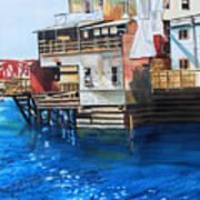 Old Town Juneau Ak Art Print