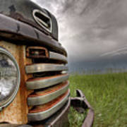 Old Vintage Truck On The Prairie Art Print