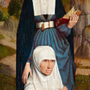Old Woman At Prayer With St. Anne Art Print