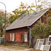 Old Wooden House With Tar Art Print