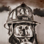 On Duty And Into Fire Art Print