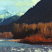 On The Squamish River 2223 Art Print