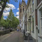 Oude Kerk In Delft Art Print