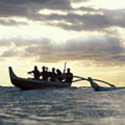 Outrigger Canoe Art Print