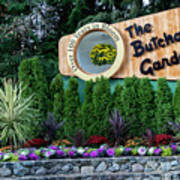 Over 100 Yrs In Bloom, Historic Garden Icon, The Butchart Gardens. Art Print