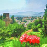 Overlooking Granada Art Print
