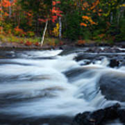 Oxtongue River Ontario Autumn Scenery Art Print