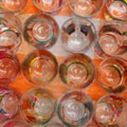 Painted Shot Glasses Art Print