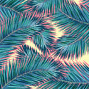 Palm Trees  Art Print by Mark Ashkenazi