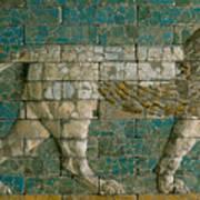 Panel With Striding Lion Art Print