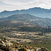 Panoramic View Of Monte Grosso And The Mountains Of Corsica Art Print