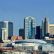 Panoramic View Of Nashville, Tennessee Art Print