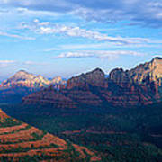 Panoramic View, Sedona, Arizona Art Print