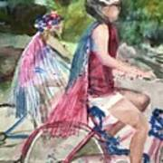 Parade Cyclers Art Print