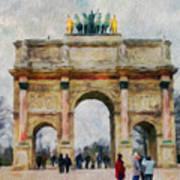 Paris Arc Art Print