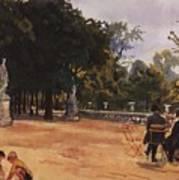 Paris The Luxembourg Park Zinaida Serebryakova Art Print