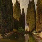 Park Near Rome Art Print