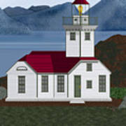 Patos Island Lighthouse Art Print
