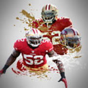 Patrick Willis 49ers Print by Joe Hamilton