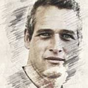 Paul Newman, Actor Art Print