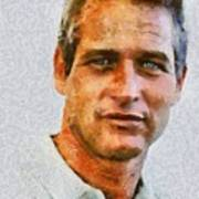 Paul Newman, Vintage Hollywood Actor Art Print