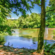 Peaceful On The River Art Print
