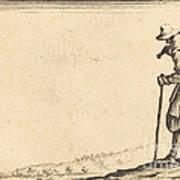 Peasant With Shovel On His Shoulder Art Print