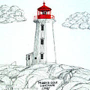 Peggys Cove Lighthouse Art Print