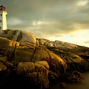 Peggys Cove Lighthouse Nova Scotia Art Print