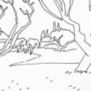 Pen Landscape Art Print